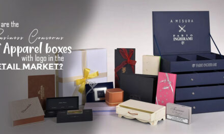 What are the Business Concerns of Apparel Boxes with logo in the Retail Market?